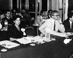 Rita Bocca during a Technological Symposium in Egypt (1984)